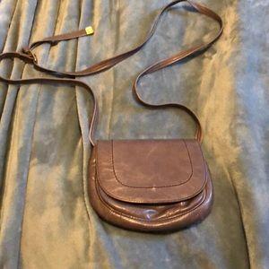 Hobo leather crossbody purse